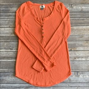 Old Navy Coral Thermal Top size S